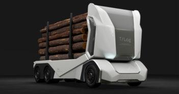 Einride présente un camion forestier électrique, sans chauffeur et sans cabine