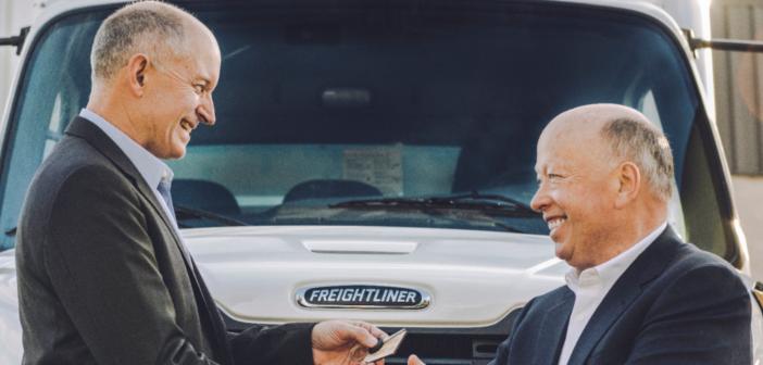 Freightliner livre son premier M2 tout électrique à Penske