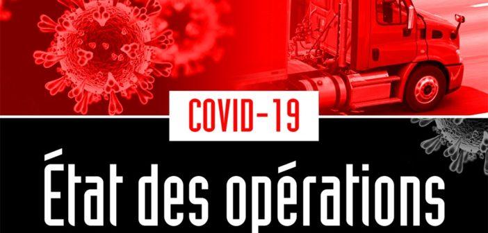 COVID-19: état des opérations