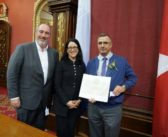 Gildor Fortier reçoit la mention d'honneur du civisme